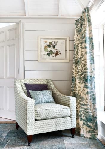 Fabric Anali Green Interior Curtains