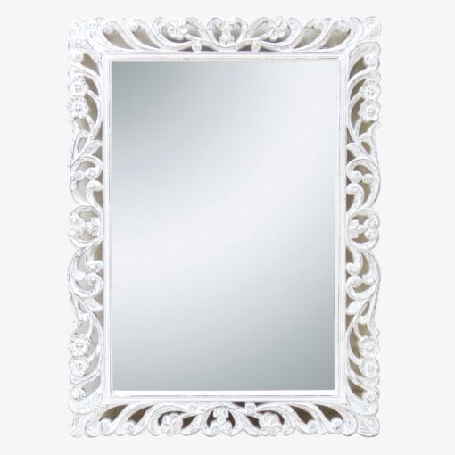 Carved edge mirror
