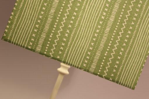 Green square zig zag lampshade