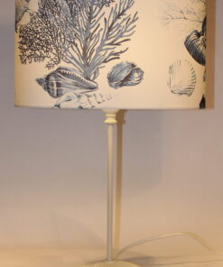 Blue reef oval lampshade