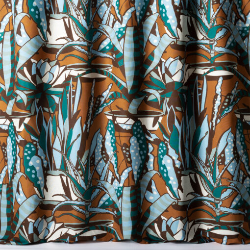 Agaves patterned curtain fabric