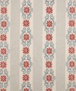 Theodore Tomato Blue fabric