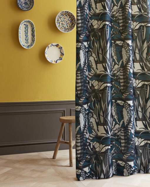 Agave patterned curtain fabric
