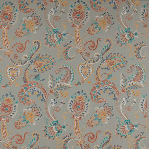 Colefax Curtain Fabric Stoffe Sample Blau